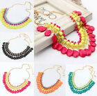 Fashion Women Charm Jewelry Pendant Chain Choker  Chunky Statement Bib Necklace