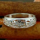 STERLING SILVER FLORAL TILE RING SOLID .925 /NEW JEWELLERY SIZE J - U