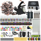 Complete Tattoo Kit 4 Machine Gun 40 Color Ink Power Supply Tip 50 Needle D176VD