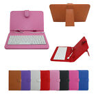 Micro OTG+USB Keyboard +PU Leather Cover Case For 7 8 9 9.7 10.1 Tablet PC