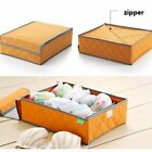 7 Cells Bamboo Charcoal Antibacterial Bra & Underwear Storage Box Container