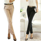 Women Slim Fit Skinny Formal OL Pencil Pants Business Casual Long Trousers