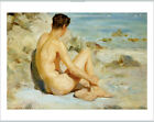 "HENRY SCOTT TUKE ""Boy On A Beach"" male Nude PRINT choose SIZE, from 55cm up, NEW"