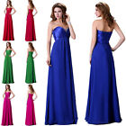Strapless Bridesmaid Wedding Evening Prom Ball Gown Cocktail Pageant Long Dress