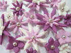 EDIBLE FLOWER TOPPERS CUPCAKE DECORATIONS MINI FLAT DOGTAIL BRIGHT X 500