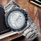 Men CURREN Stainless Steel Round Dial Hour Date Sport Quartz Analog Wrist Watch