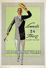Vintage French men's fashion ad print poster, large 4 sizes available