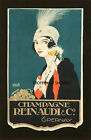 Vintage French Champagne print poster, large 4 sizes available