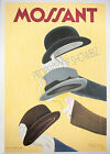 Mossant Vintage rare French ad print poster, large 4 sizes available