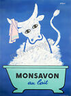 Monsavon Vintage rare French Milk ad print poster, large 4 sizes available