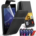 FLIP CASE POUCH PU LEATHER COVER FOR SONY XPERIA M2 D2303 D2306 + SCREEN GUARD