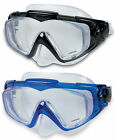 Intex Silicone Aqua Pro Adults Diving Mask in choice of black or blue #55981