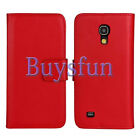 Genuine Real Leather Wallet Cover Case For Samsung Galaxy S4 Mini i9190
