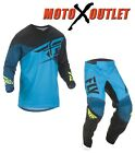 Fly F-16 Jersey & Pant Combo Dirt Bike Gear MX ATV Racing 2016 Riding Gear Blue