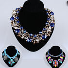Fashion Womoen Ladie Girl Crystal Bib Statement Choker Necklace Pendant Jewelry