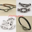 5 Sets Marine Knot Antique Magnetic Leather End Cap Lobster Clasp Buckle Finding