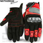 Motocross Gloves Off Road MX MTB Racing Gloves Knuckle Protection Red M -L -XL