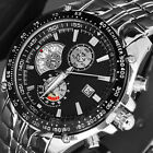 Luxury Charm Black Date Master Calendar Steel Water Resistant Men Sport Watch WA