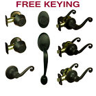 Hanover Oil Rubbed Bronze Door Lever Knob Hardware