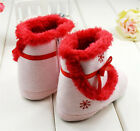 Toddler Baby Girls Pink Snow Boots Crib Shoes Size Newborn to 18 Months-U04