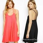 S M L XL Sexy Women Celeb Style Halter Backless Party Cocktail Skater Mini Dress