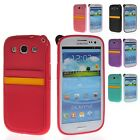 Soft Gel TPU Pouch Card Slot Back Case Cover For Samsung Galaxy S3 I9300