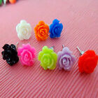 1 Pair Small Vintage Style Rose Flower Stud Earrings for Wedding Party  SED066