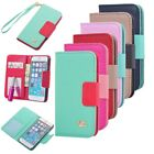New Wallet Card Holder PU Leather Durable Flip Pouch Case Cover For iPhone 5 5S