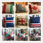 New Variety Throw Pillowcase Pillowslip Cases National Flag Cushion Cover Case 8