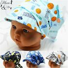 Kids Boys Toddler -Printed Head Sun Protection Adjustable Headband Bandana Hat