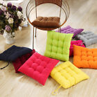 Handmade Square Candy Color Soft Dining Chair Seat Pad Filled Ties Cushion Decor