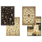 """Transitional Floral Area Rug 5x7 Casual Vines Scrolls Carpet - Actual 5'2""""x7'2"""""""