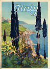 Vintage Italy Travel Advertisement print poster-4 large sizes available