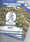 Colchester United Home Football Programmes 1978/79 & 1979/80 All 99p each