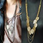 Vintage Jewelry Leaves Pendant Leaf Statement Necklace Womens Gold Necklaces