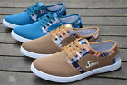 New Mens Canvas Casual Lace Slip On Sneakers Shoes Moccasins Driving Shoes T98