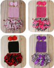 Girl Infant Newborn Baby Headband+Tube Tops+Pants Satin Shorts Outfit Set Photo