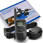 Electric LCD 300M Remote Waterproof Training collar for 1/2 dogs Rechargeable UK
