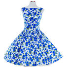 Vintage Dress Retro Dancing Party Swing Jive Rockabilly Skirt Floral 1950s 1960s