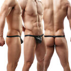 Hot Sexy Mens Leather Jockstrap Boxer Trunks Underwear Thongs&G-string T-back#C5