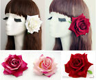 1PX Fabric Blooming Rose Flower Hair Clip Bridal Wedding Hair Flower Studio