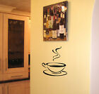 SCA ART KITCHEN WALL ART COFFEE TEA CUP STICKER VINYL DECAL FOR TILES WALL ETC
