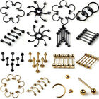 5pc Wholesale Body Jewelry Lots Tongue Belly Lip Eyebrow Nose Barbell Rings Stud