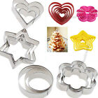 Flower/Heart/Star Fondant Cake Cookie Cutter Sugarcraft Mould Decorating Tool #F