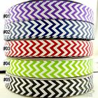 "1 metres mixed 5 colors chevron grosgrain ribbon craft lot craft 1""(25mm) U pick"