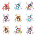 New Chic Vivid Spider Shape Band Party Stretchy Ring Colorful Crystal Rhinestone