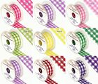 Cut Edge 38mm Large Check Gingham Woven Ribbon Florist Rosette Crafts 11 Colours