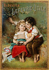 Lefevre-Utile Vintage French advertisement print poster, 4 sizes available