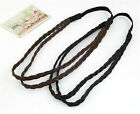 New Women Fashion Leather Woven Hair Band Double Braided Headband Multicolors