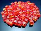 Free #5601 Crystal Spacer Square Cube Loose Beads Pendant 4mm Many colors choose